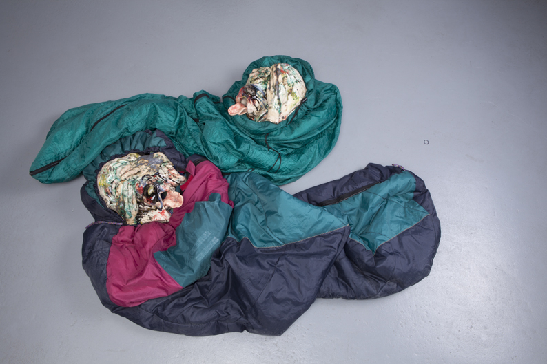 2012. Ceramics, sleeping bags.